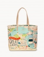 Great Lakes Embroidered Large Fringe Tote