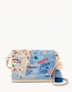 Down the Shore Embroidered Convertible Crossbody