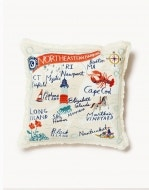 Northeastern Harbors Embroidered Pillow