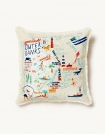 Outer Banks Embroidered Pillow