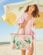 Tropic Flamingo Beach Tote