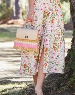 Audubon Rattan Top Handle Crossbody