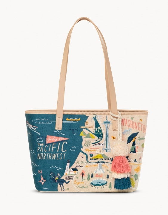Pacific Northwest Embroidered Tote