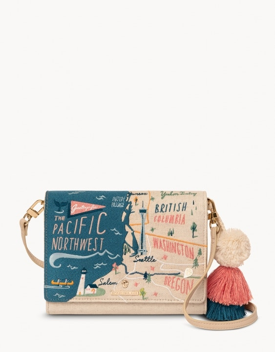 Pacific Northwest Embroidered Convertible Crossbody