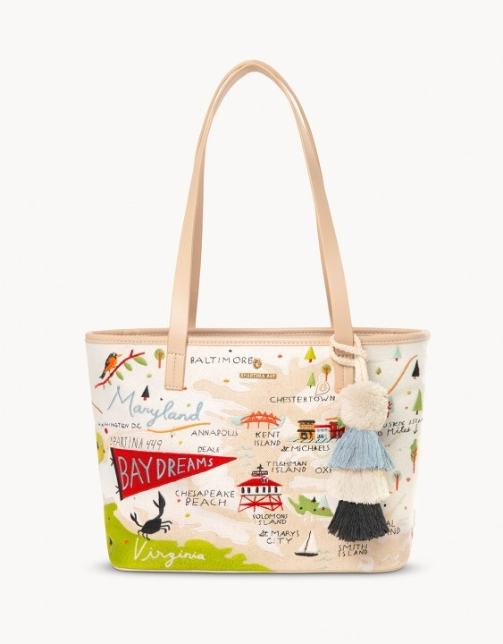 Bay Dreams Embroidered Tote