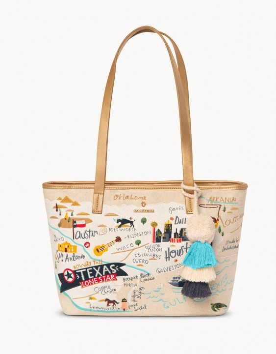 Texas Embroidered Tote