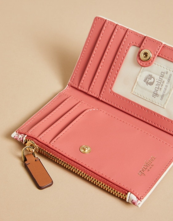 Pink House French Floral Fiona Snap Wallet