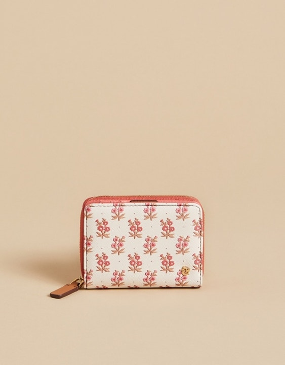 Pink House French Floral Mini Wallet