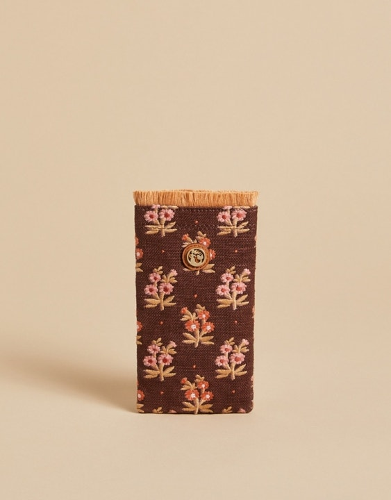 Pink House French Floral Sunglass Case