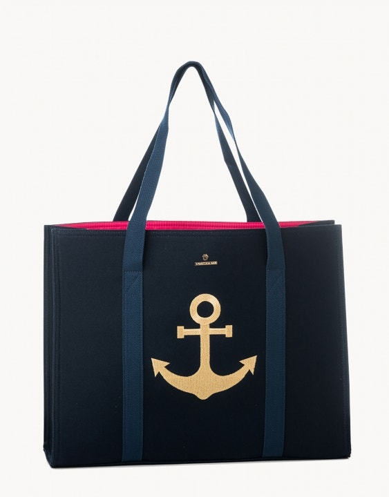 Anchor Embroidered Carry All Tote