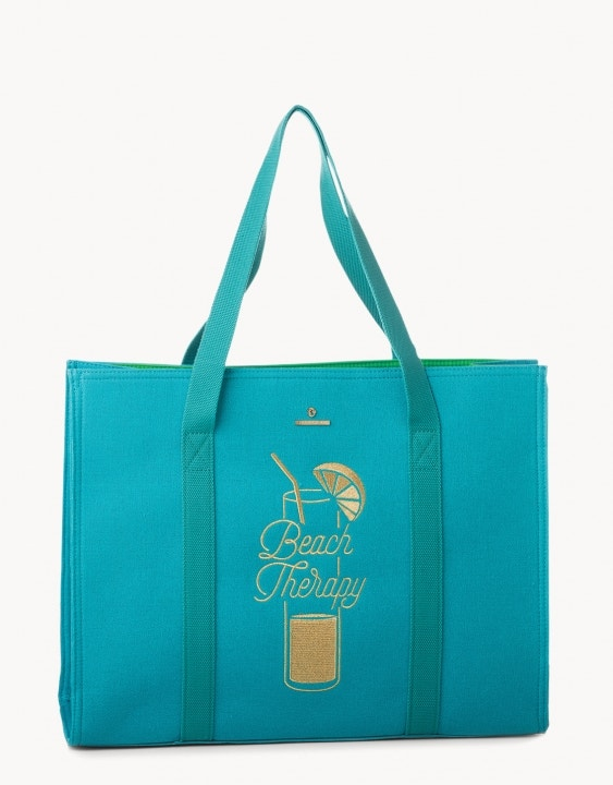 Beach Therapy Embroidered Carry All Tote