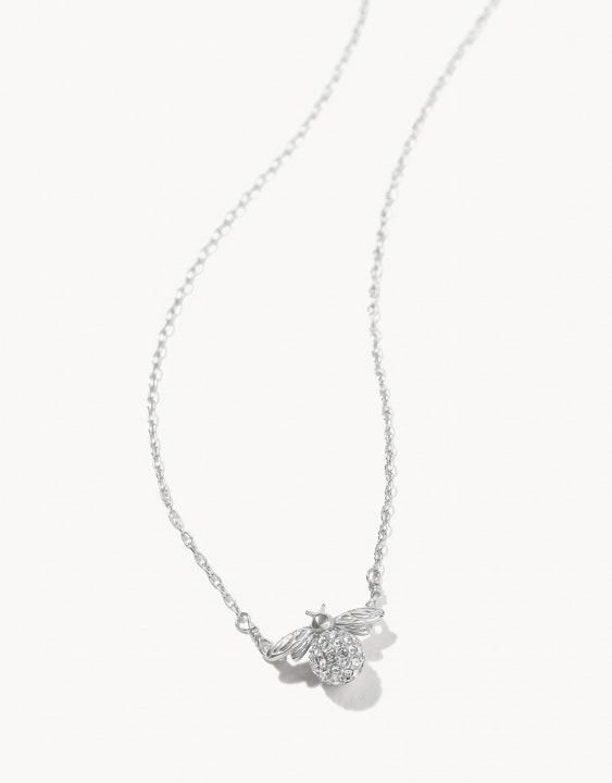 Delicate Sparkly Bee Necklace