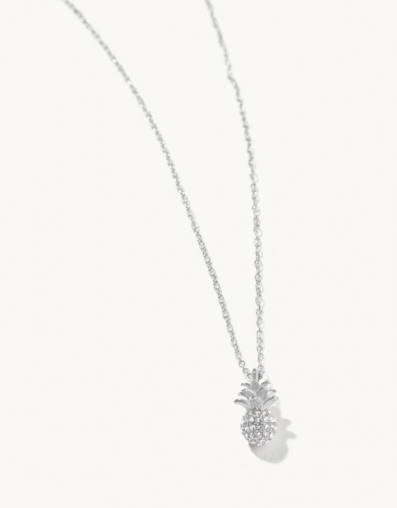 Delicate Sparkly Pineapple Necklace