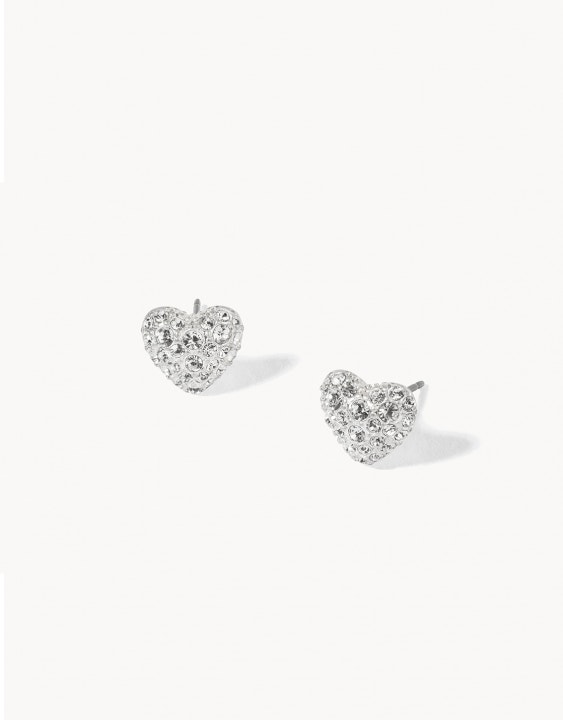 Delicate Bursting Heart Stud Earrings