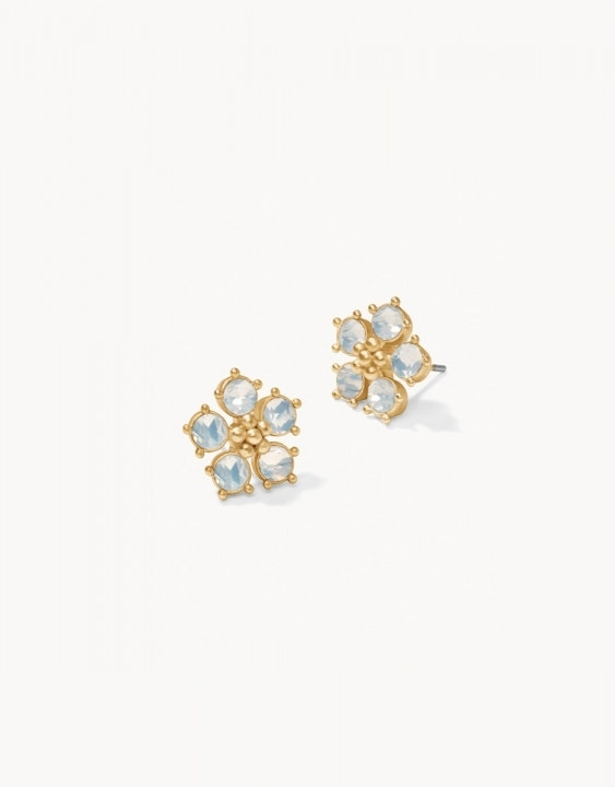 Sparkle Flower Stud Earrings