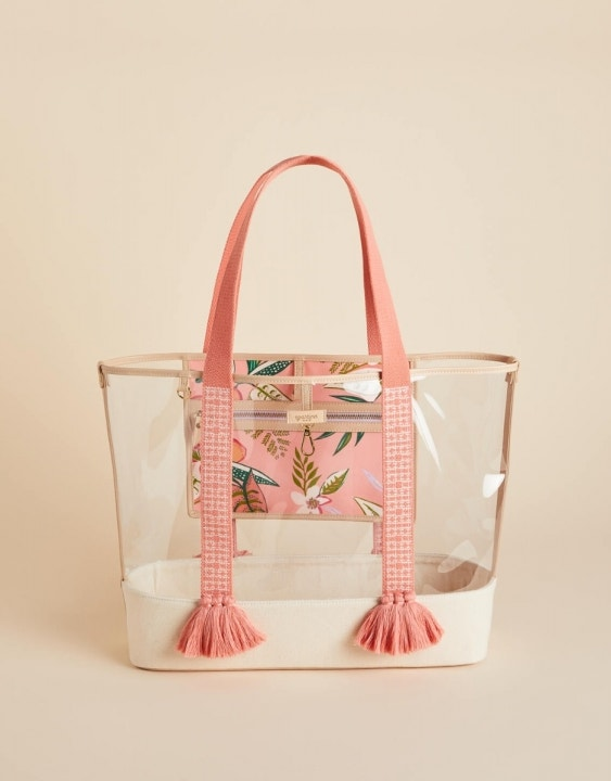 Pink Lemonade Clear Beach Tote