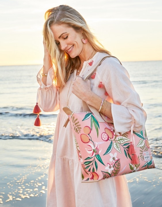 Pink Lemonade Zip Travel Tote