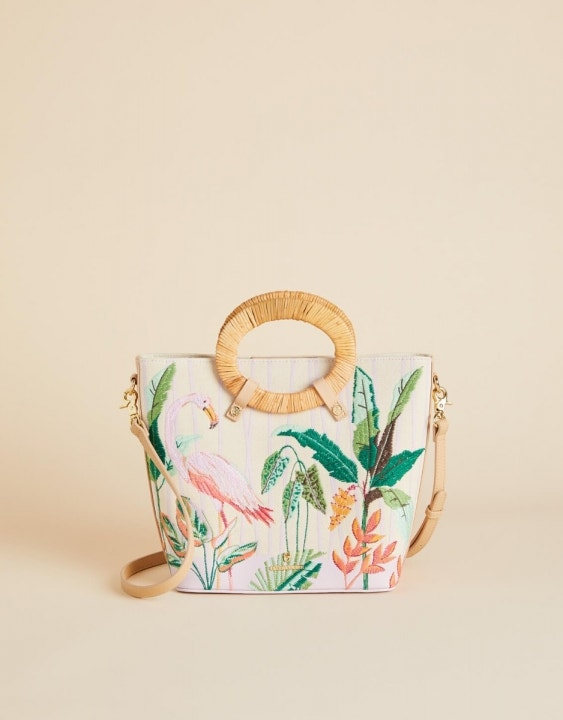 Tropical Flamingo Lauren Tote