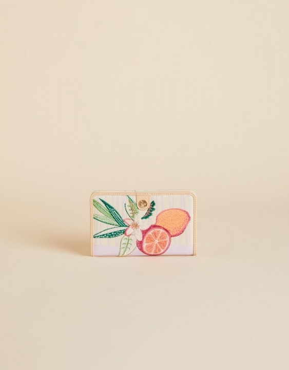 Tropic Flamingo Snap Wallet