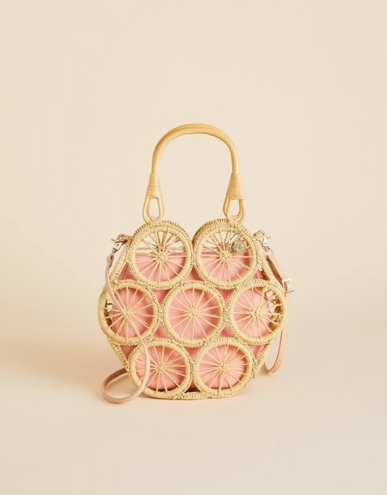 Pink Lemonade Straw Tote