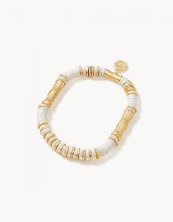Bamboo Shell Stretch Bracelet