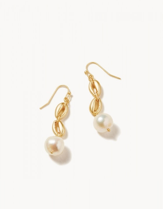 Cowrie Linear Earrings
