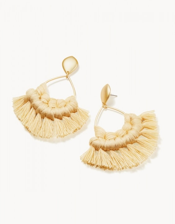 Macrame Earrings Gold/Yellow