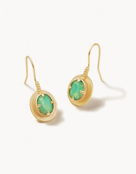 Atlantic Opal Drop Earrings