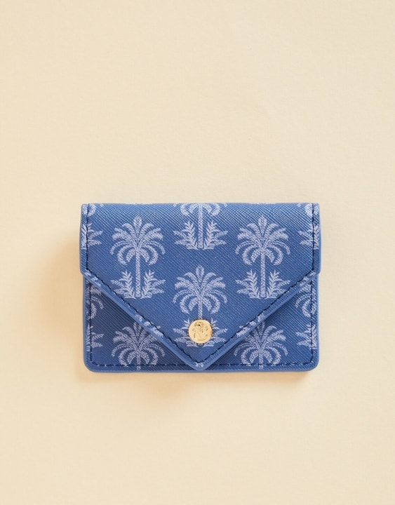 Oyster Alley Palm Envelope Card Holder