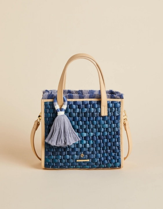 Oyster Alley Woven Dune Satchel