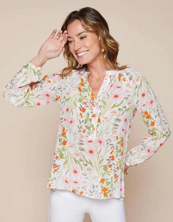 Cora Silk Blouse