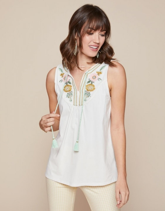 Faye Embroidered Tank