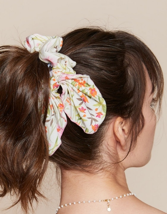 Audubon Wildflower Scrunchie