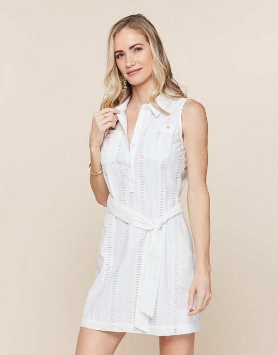 Eliza Eyelet Shirt Dress