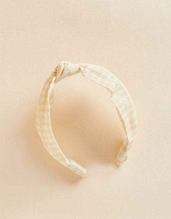 Salt Marsh Gingham Knot Headband