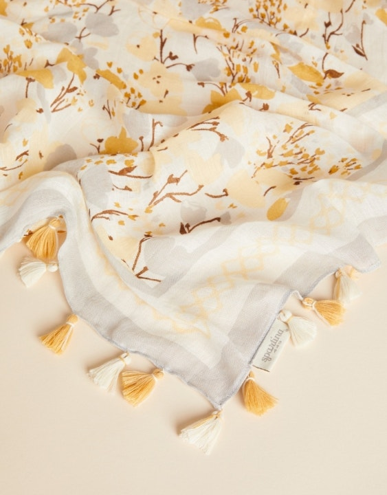 Salt Marsh Floral Square Scarf