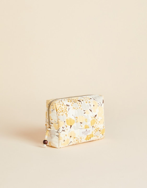 Salt Marsh Floral Quilted Cosmetic Bag
