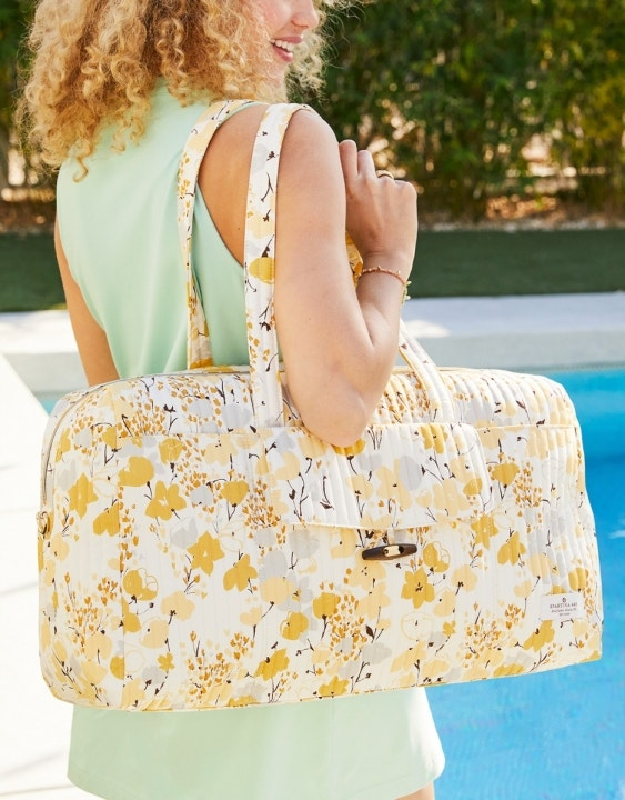 Salt Marsh Floral Quilted Duffle