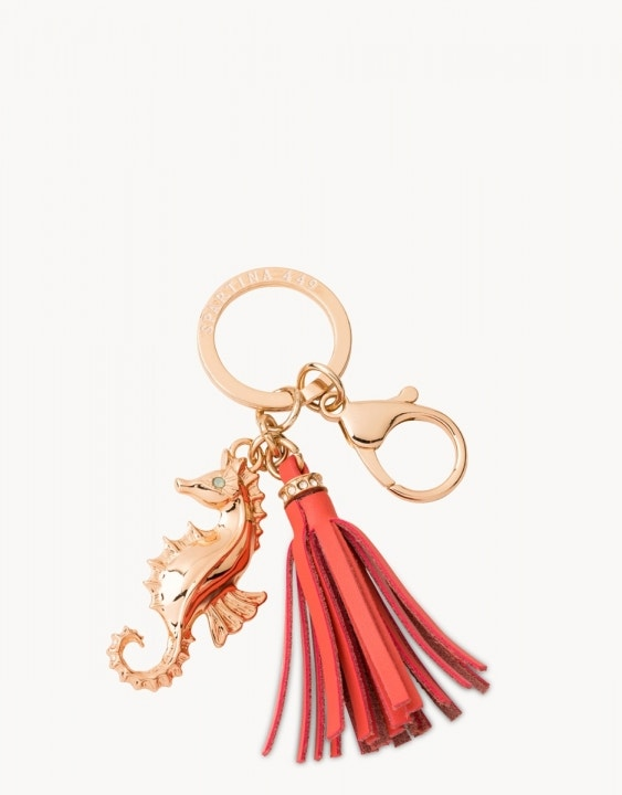 Seahorse Keychain Coral