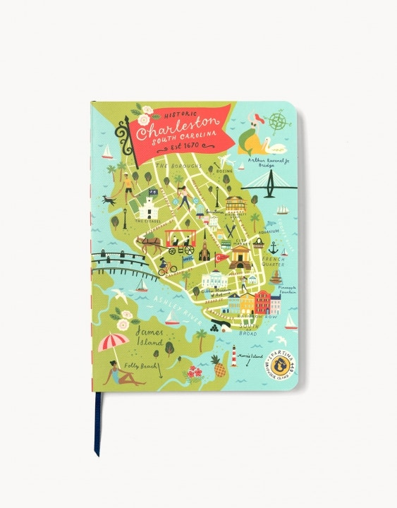 Charleston Ruled Notebook