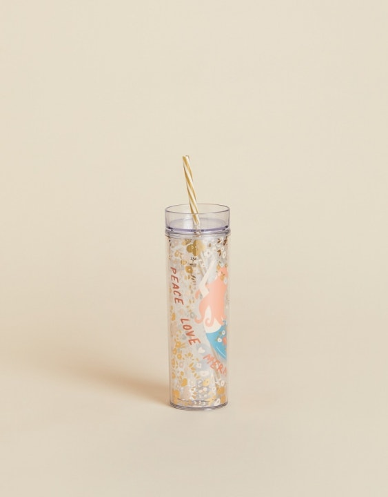 Peace Love Mermaids Insulated Drink Tumbler